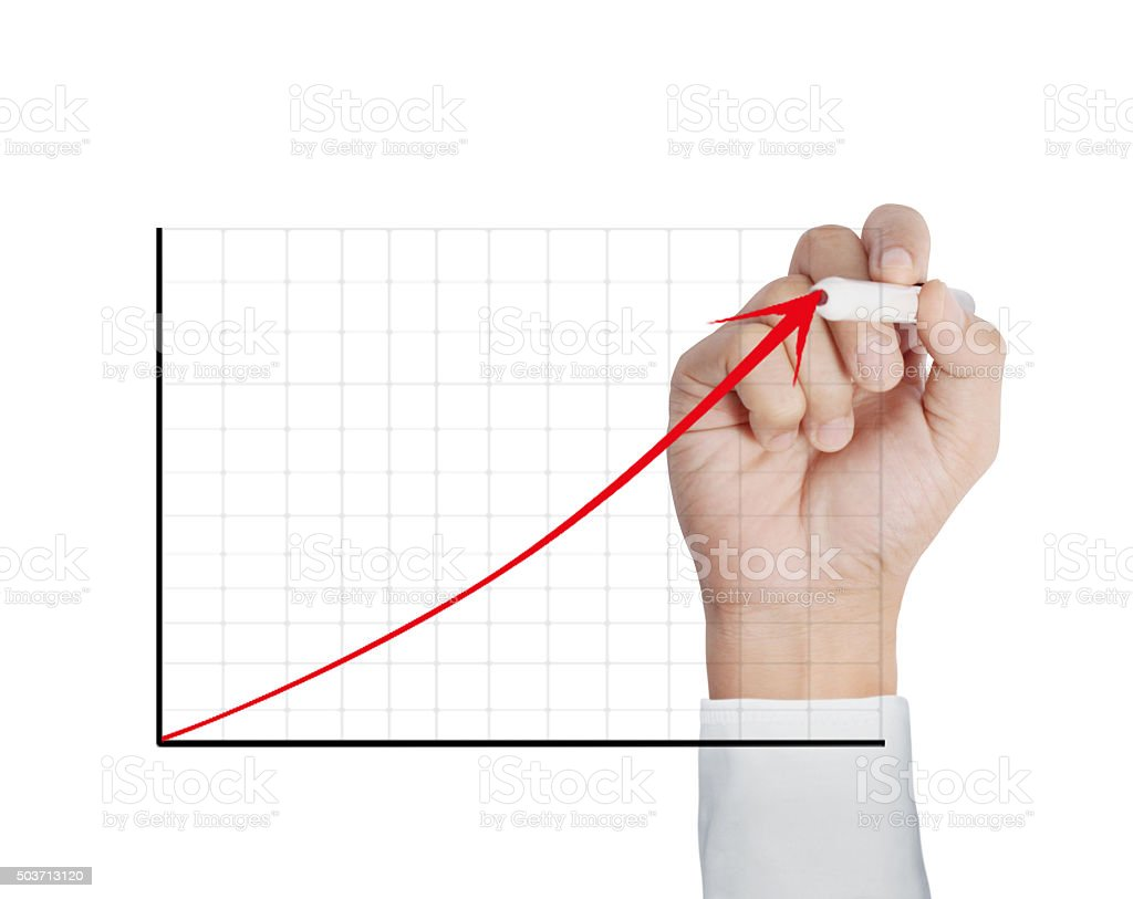 drawing a chart show stock photo