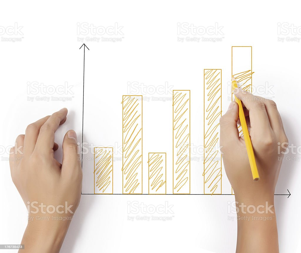 drawing a graph stock photo