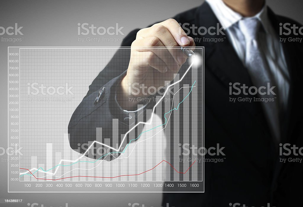 drawing a graph royalty-free stock photo
