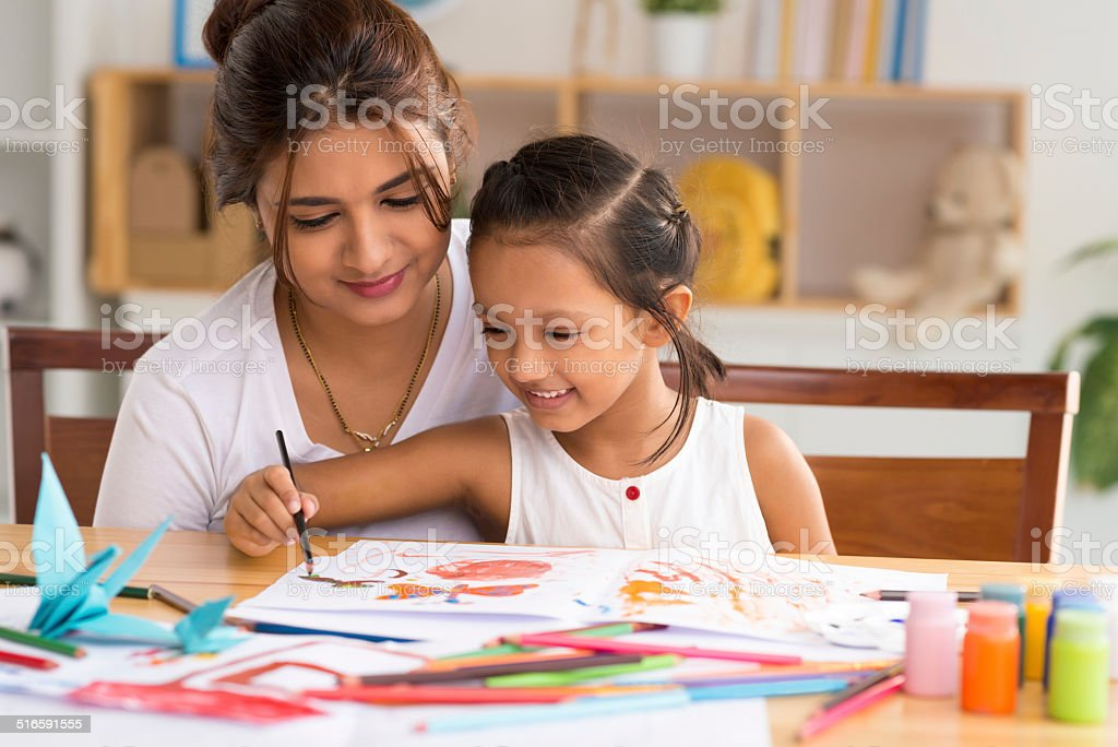 Drawing a picture royalty-free stock photo