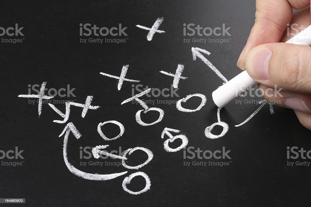 Drawing a Strategy stock photo