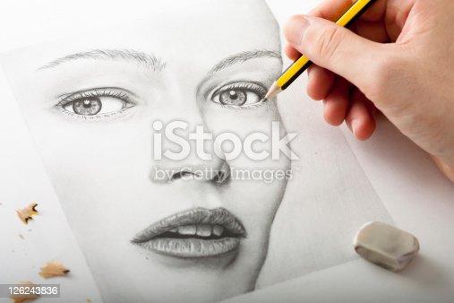 Изображение в рисунок карандашами