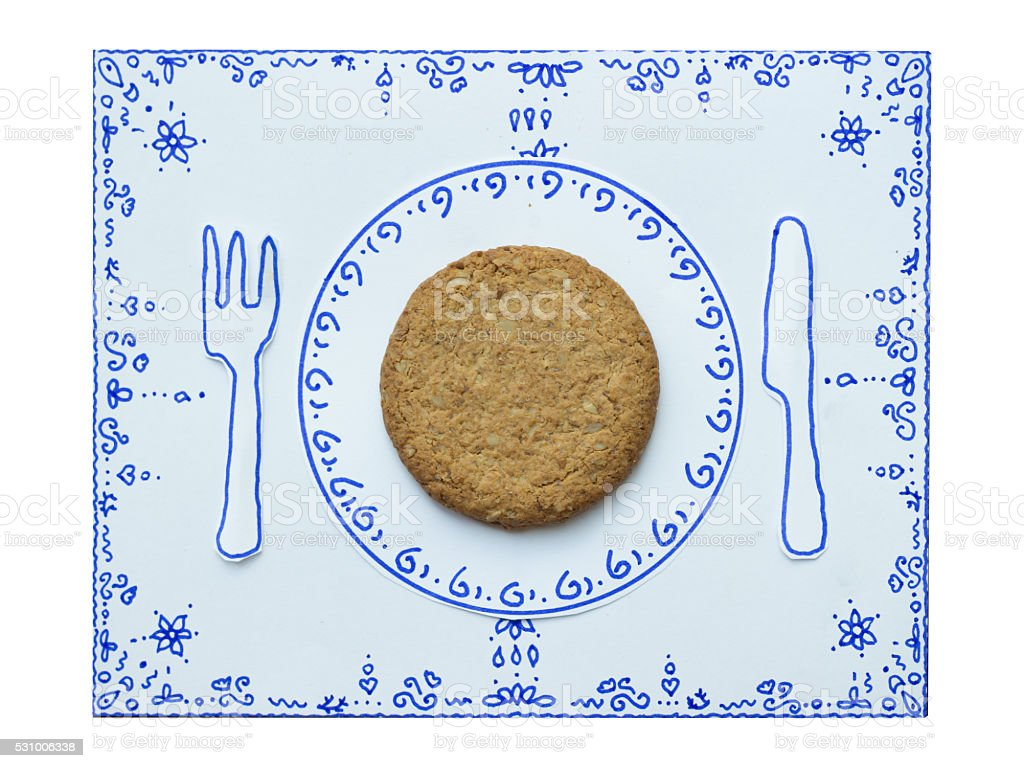 Drawing and food, Cookie Whole stock photo
