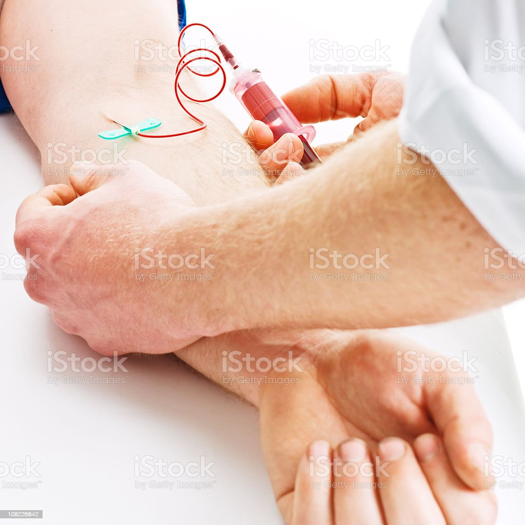Drawing Blood from Arm royalty-free stock photo