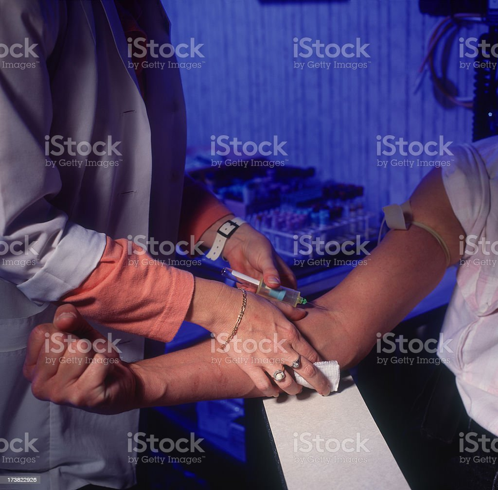Drawing Blood from Patient royalty-free stock photo