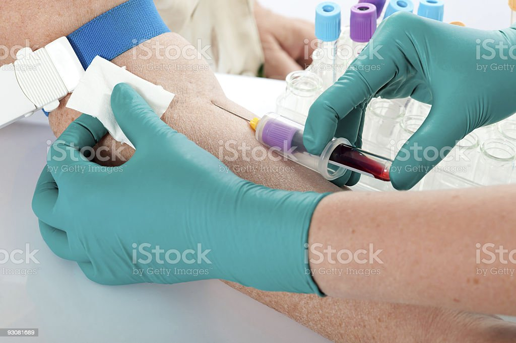 Drawing Blood stock photo