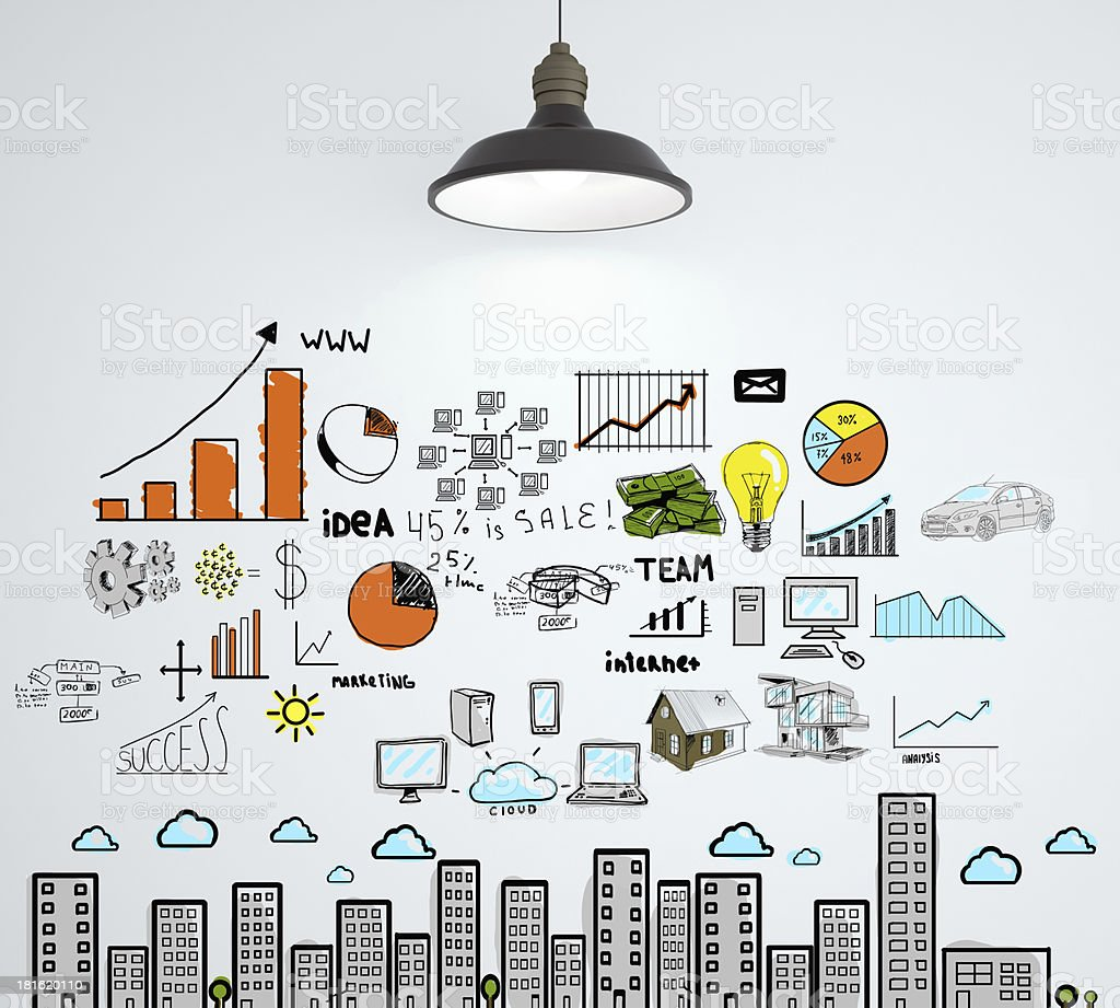 drawing business concept royalty-free stock photo