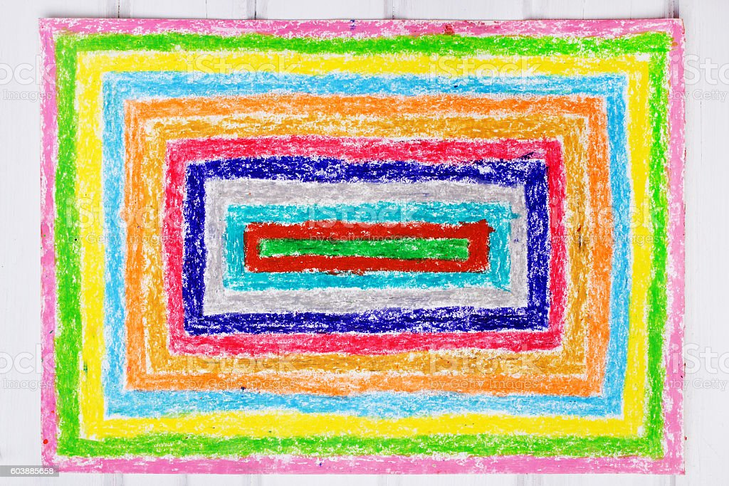 Drawing: colorful rectangles stock photo