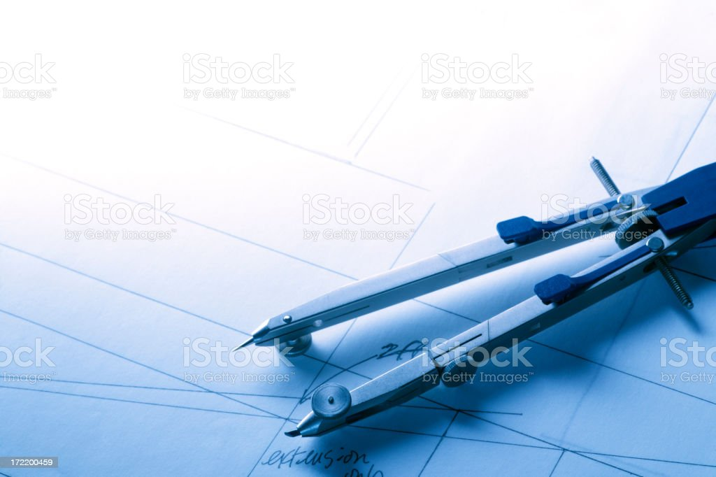 Drawing Compass stock photo