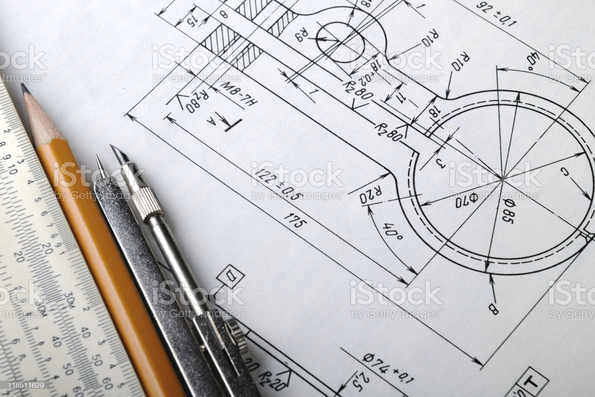 Drawing detail royalty-free stock photo