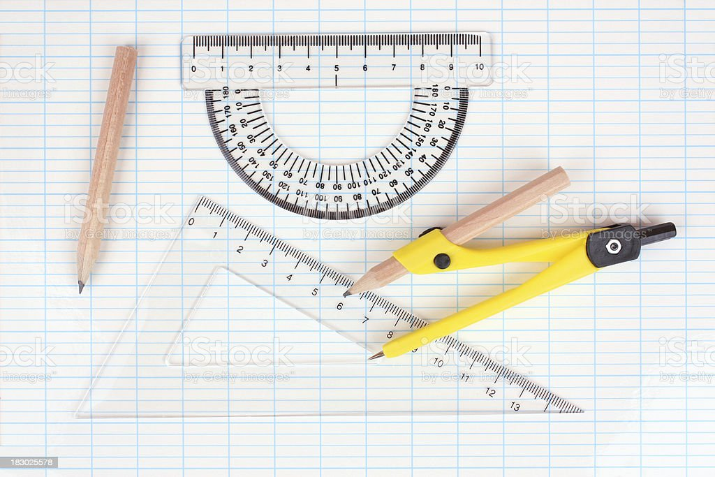 Drawing equipment royalty-free stock photo