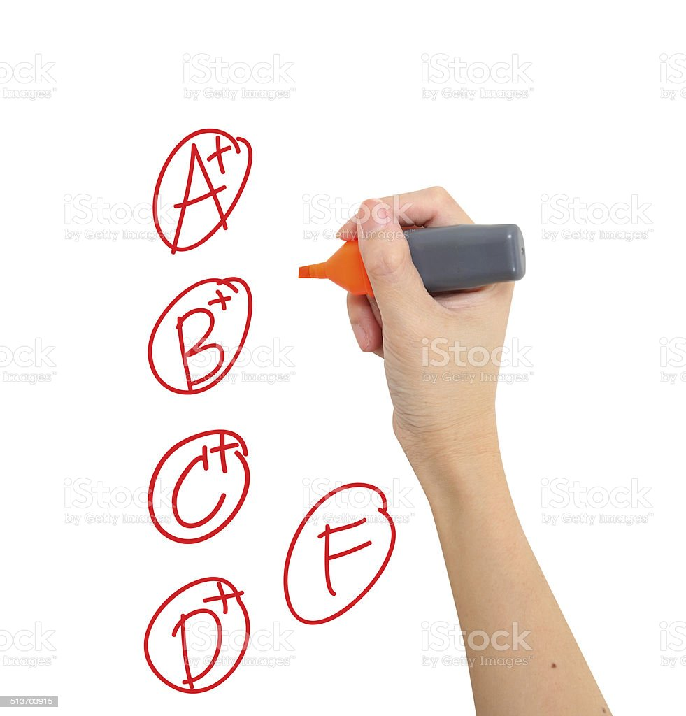 Drawing Exame Results Letters stock photo