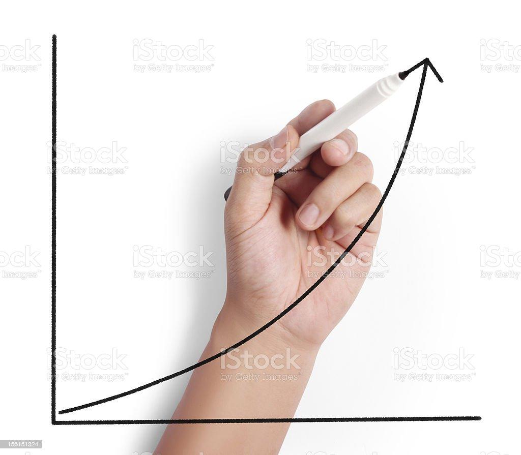 drawing graph royalty-free stock photo