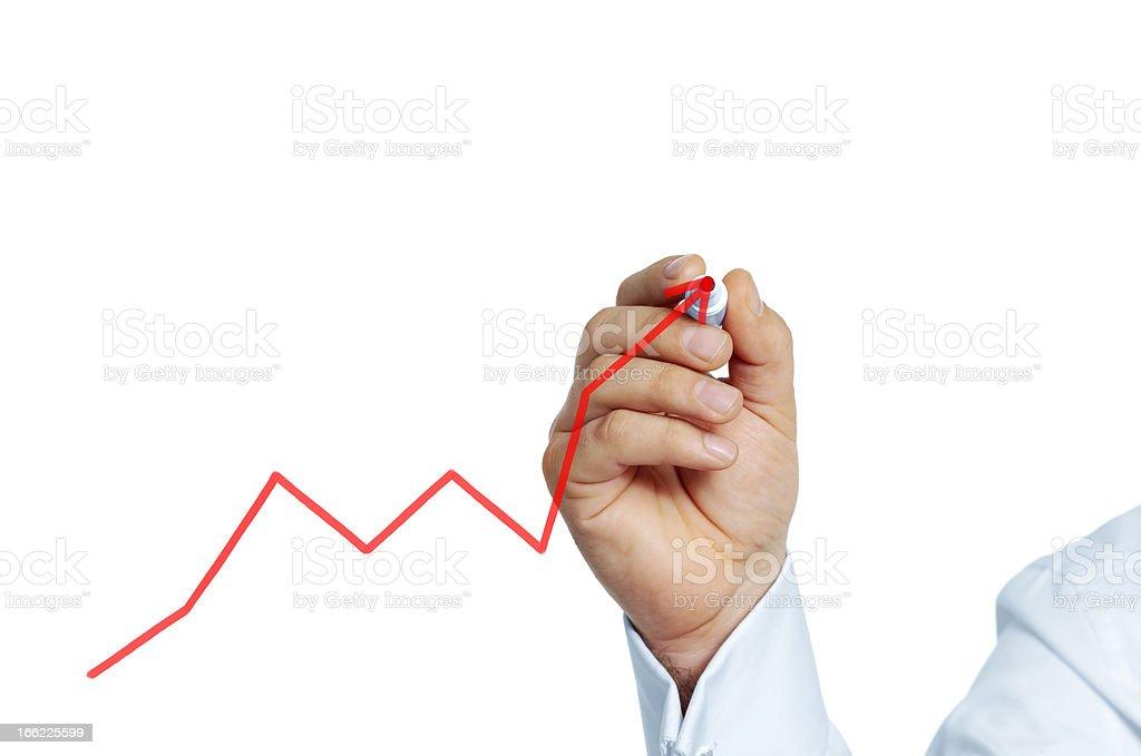 Drawing graph stock photo