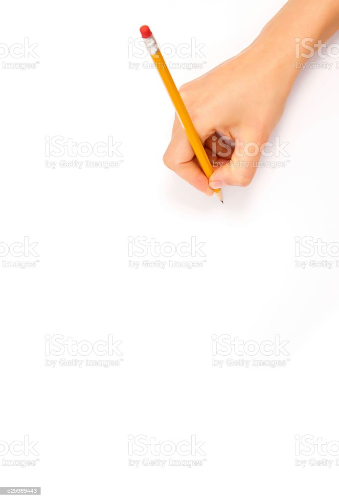 drawing hand stock photo