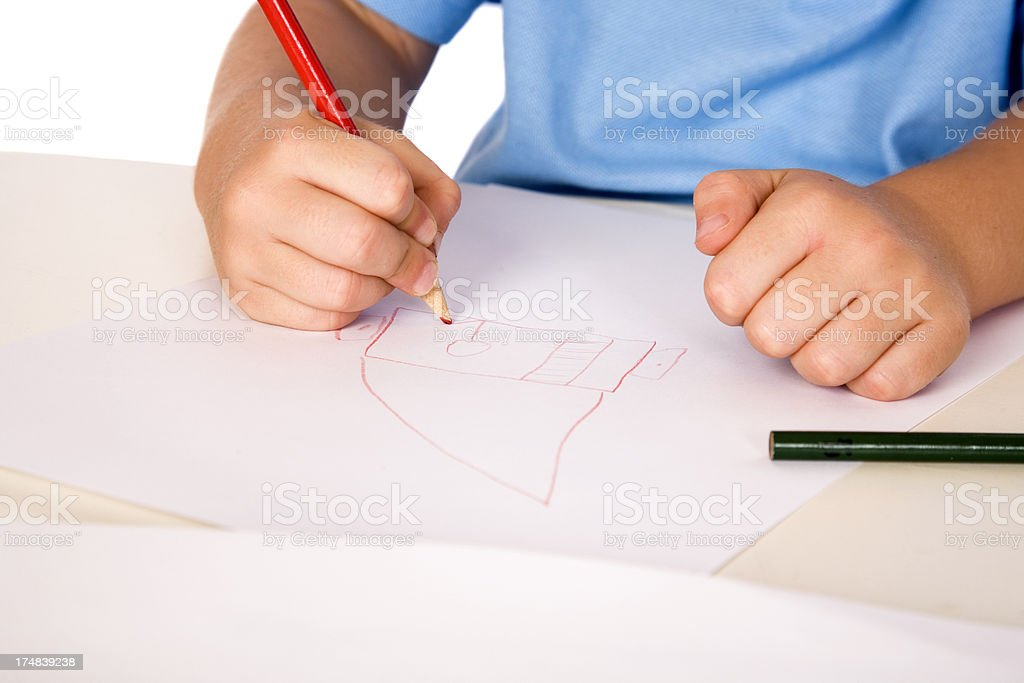 Drawing Hands royalty-free stock photo