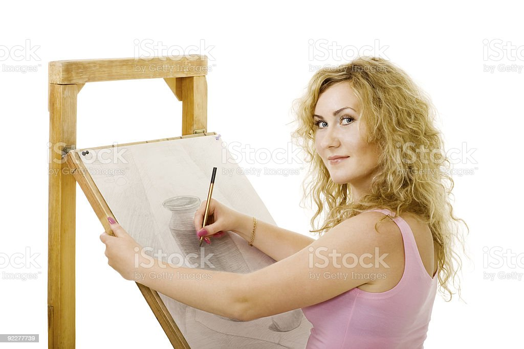 drawing in pencil royalty-free stock photo