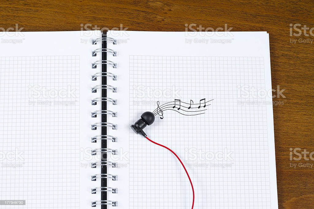 Drawing In The Notebook Music stock photo