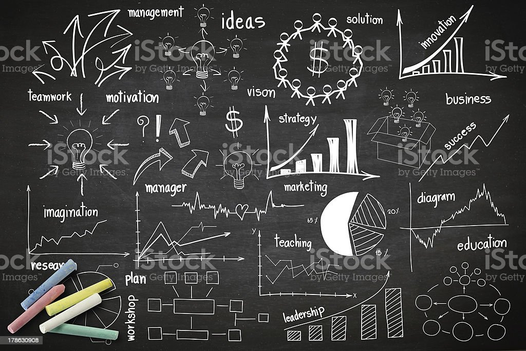 drawing infographics elements graphics and diagrams royalty-free stock photo