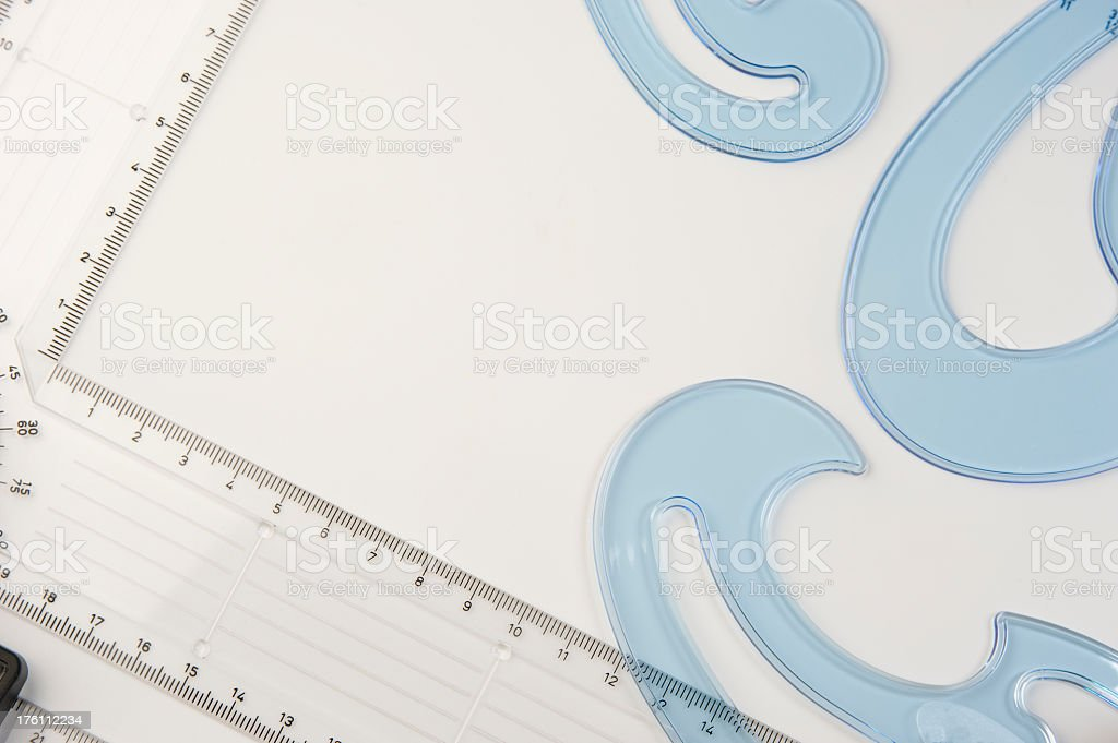Drawing Instruments. royalty-free stock photo