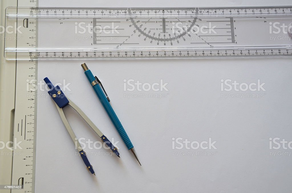 Drawing kit stock photo