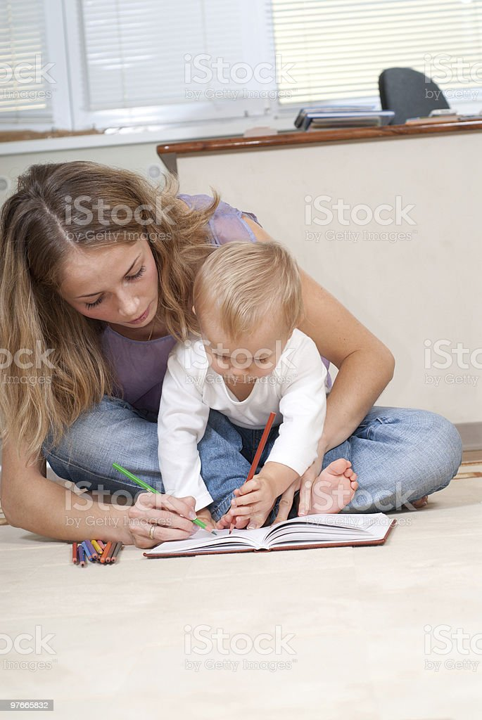Drawing lesson royalty-free stock photo