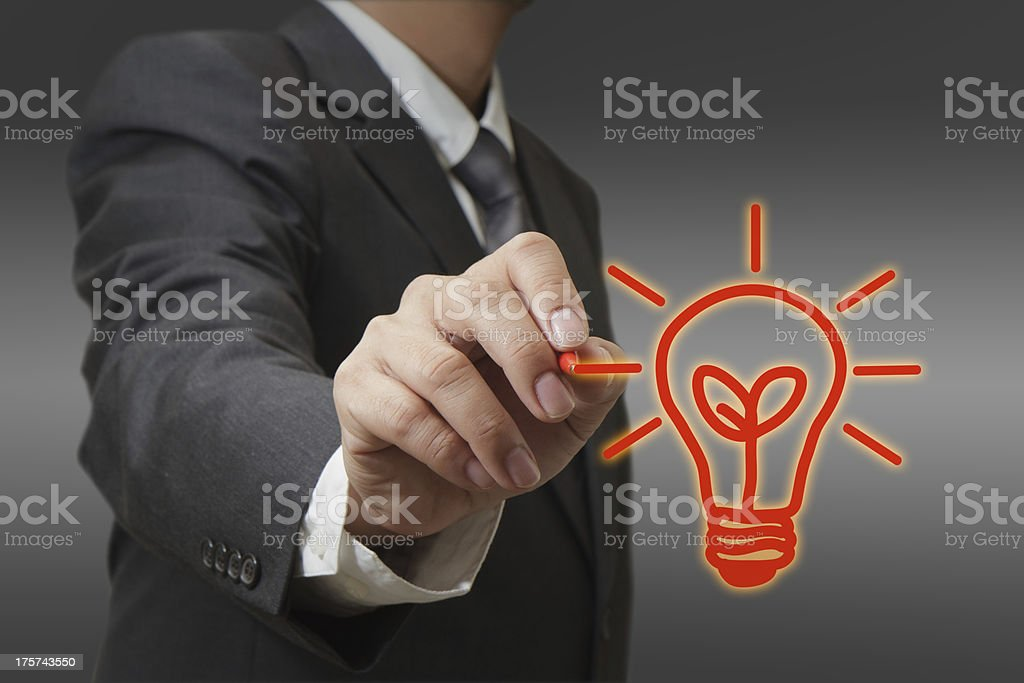 drawing light bulb royalty-free stock photo