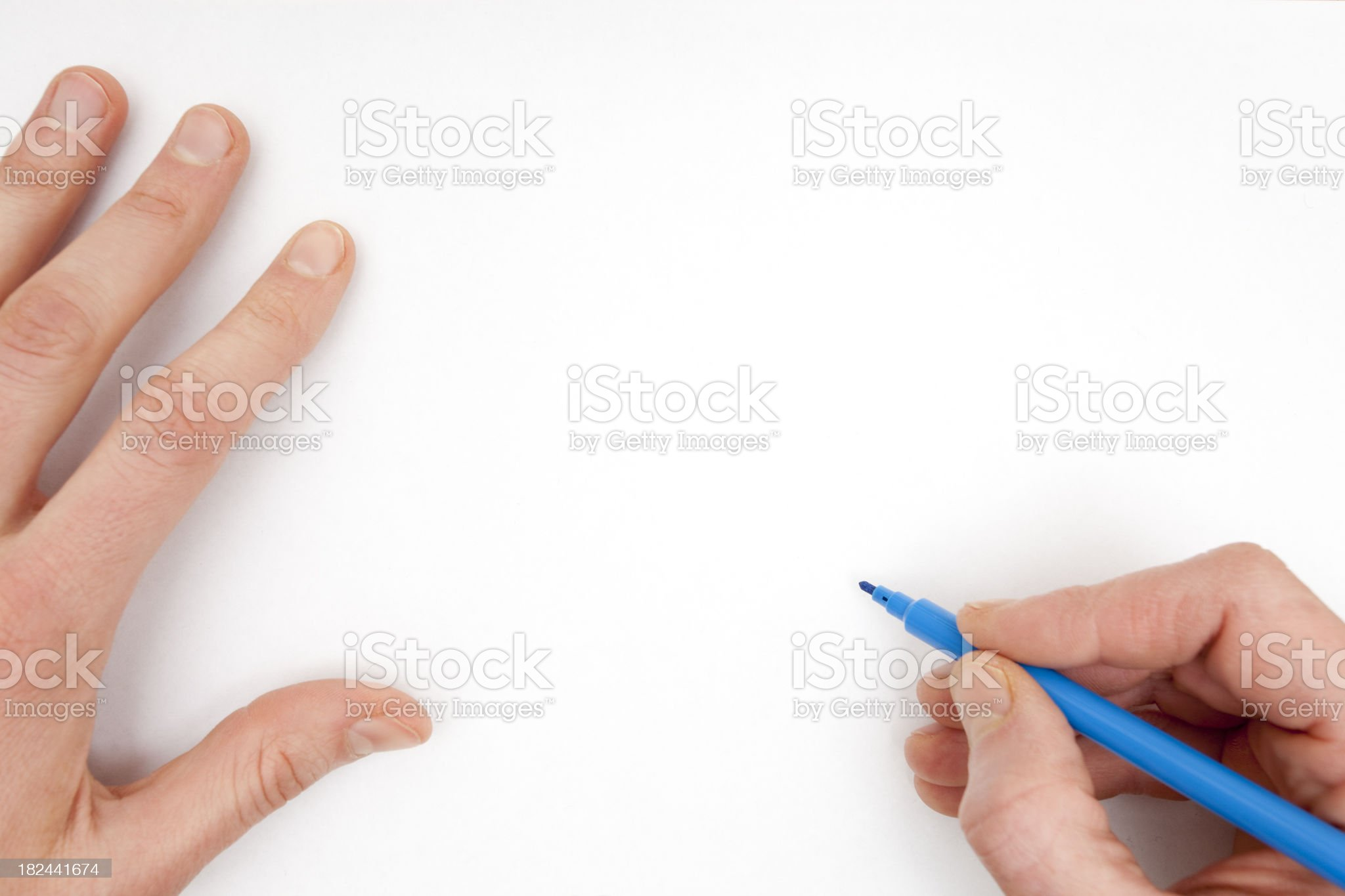 Drawing on a White Sheet royalty-free stock photo