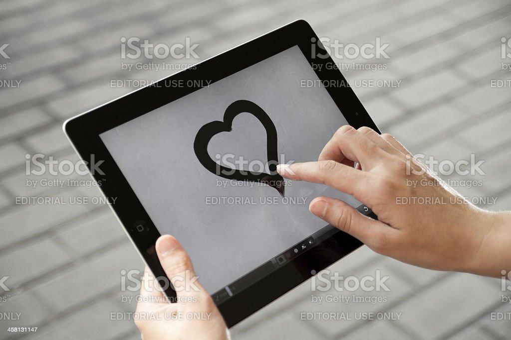 Drawing on Apple Ipad2 royalty-free stock photo
