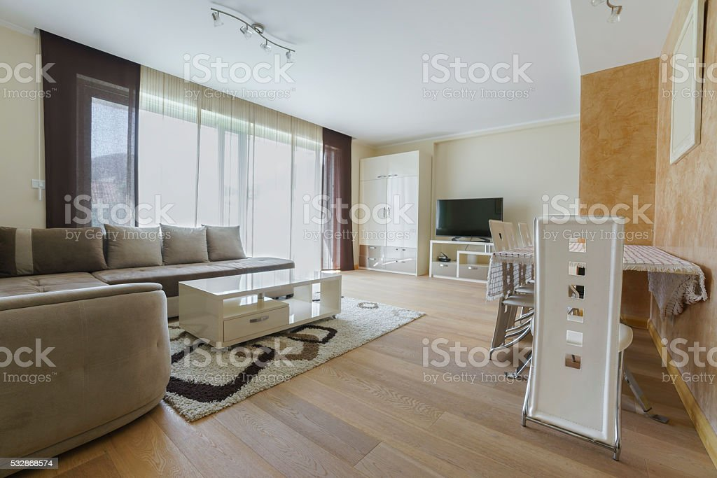 drawing room in a guest house stock photo