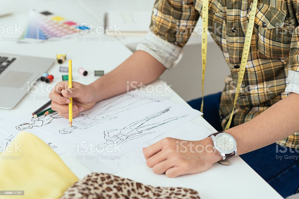 Drawing sketches stock photo
