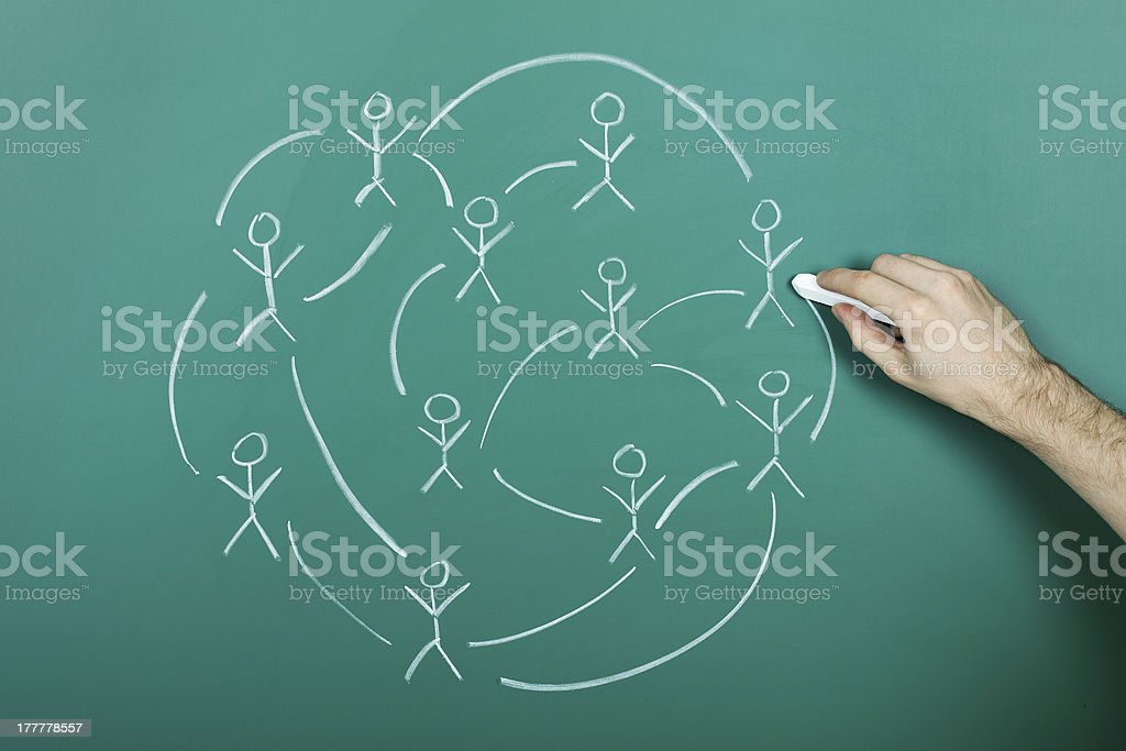 Drawing social network royalty-free stock photo