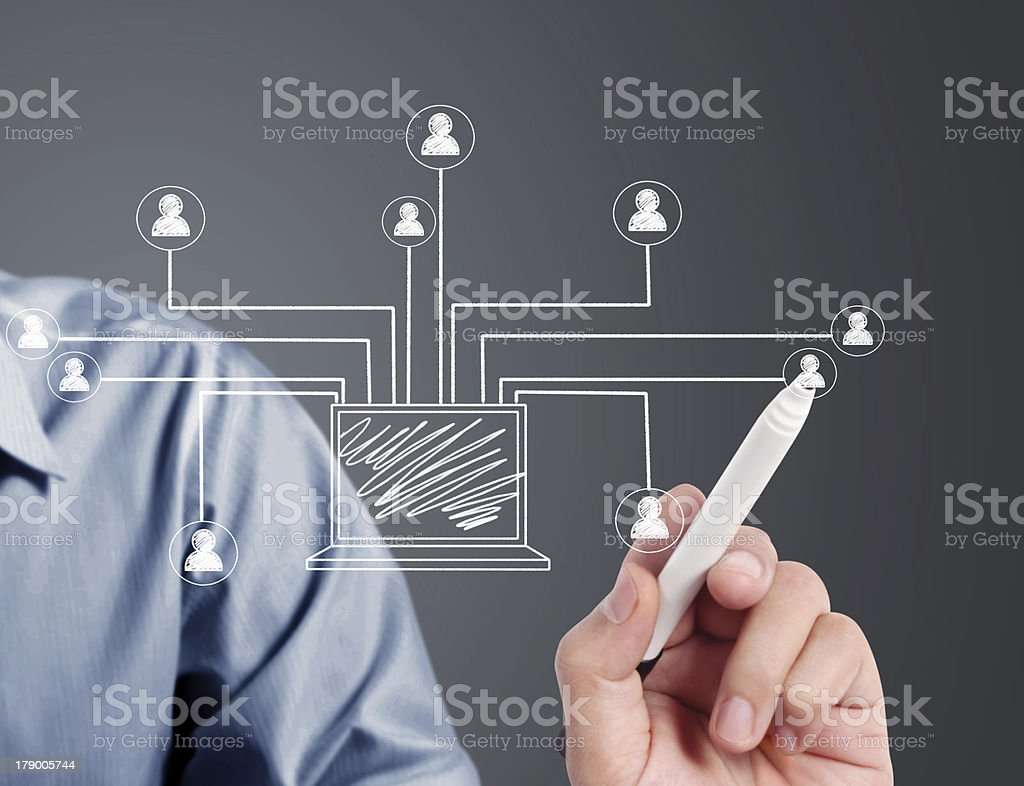 drawing social network stock photo