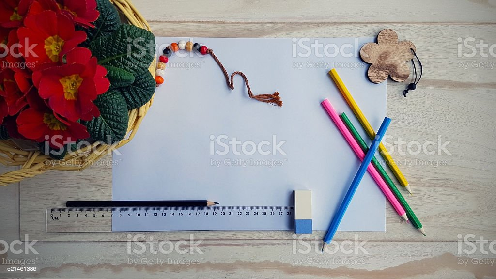 Drawing Still Life stock photo
