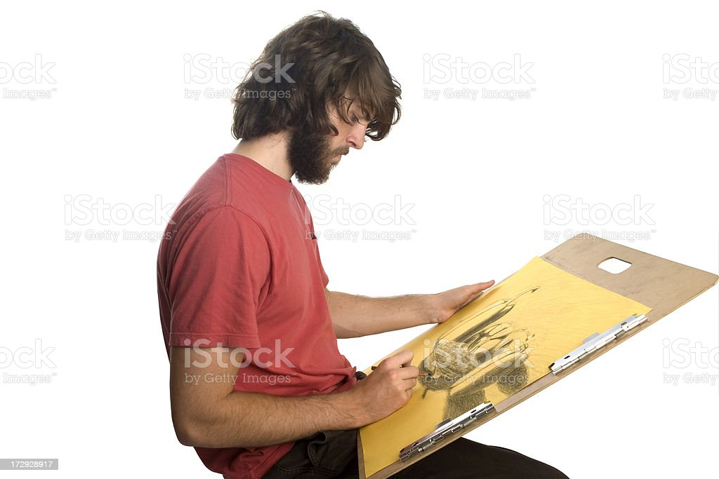 Drawing Student royalty-free stock photo