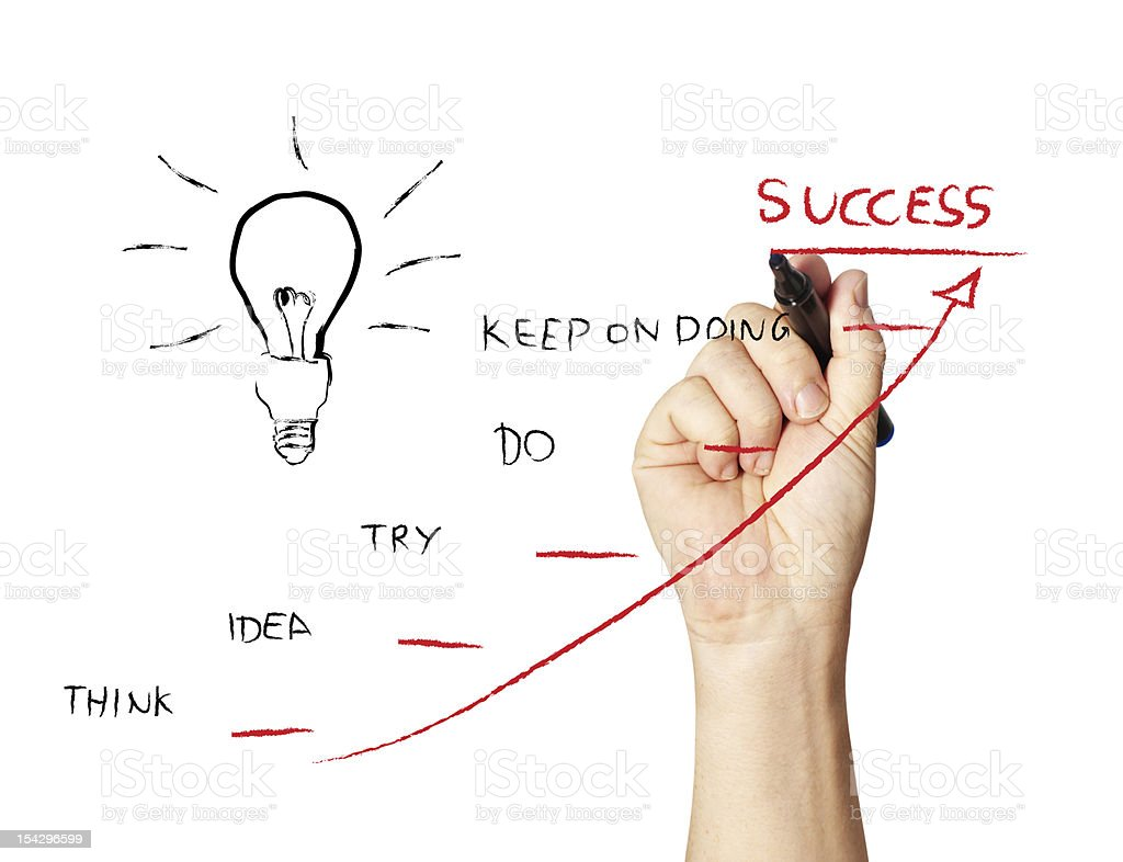 drawing success stock photo