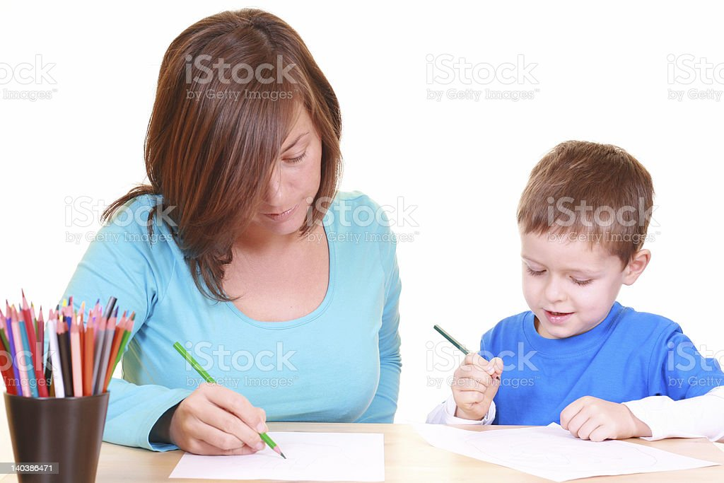 drawing together royalty-free stock photo