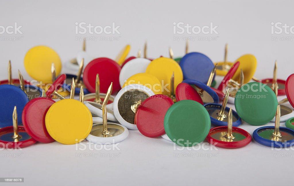 Drawing-pin stock photo