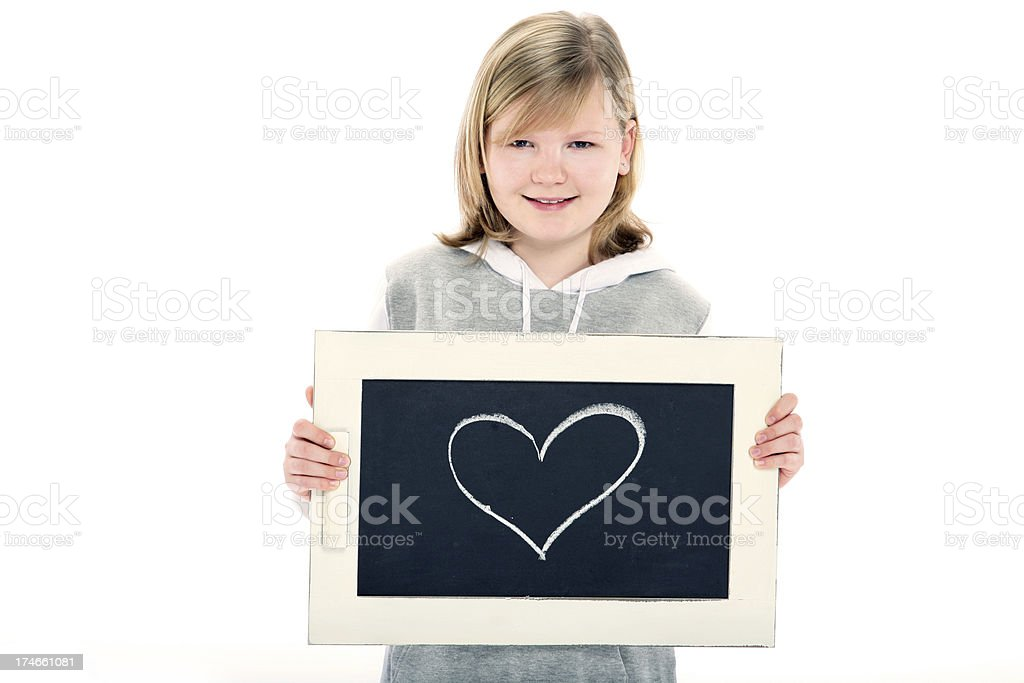 drawn heart royalty-free stock photo
