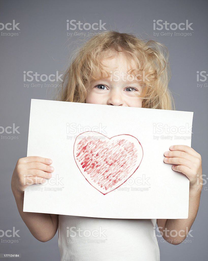 Drawn heart stock photo