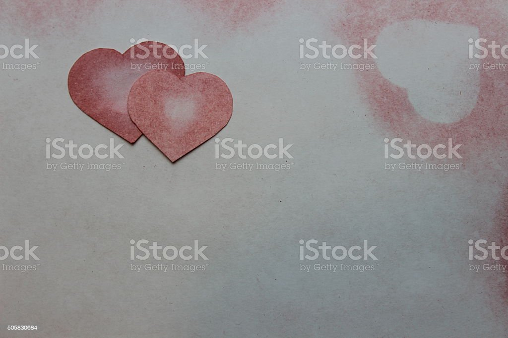 Drawn in pencil heart on paper. vector art illustration