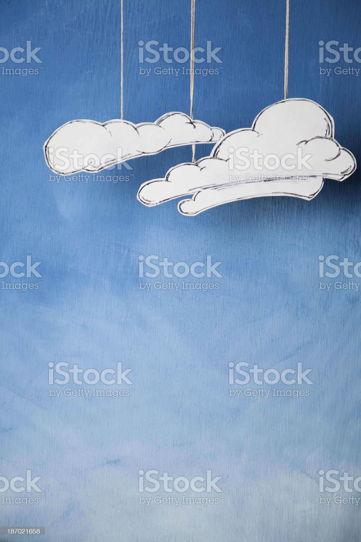 Drawn World: Cloudy Sky royalty-free stock photo