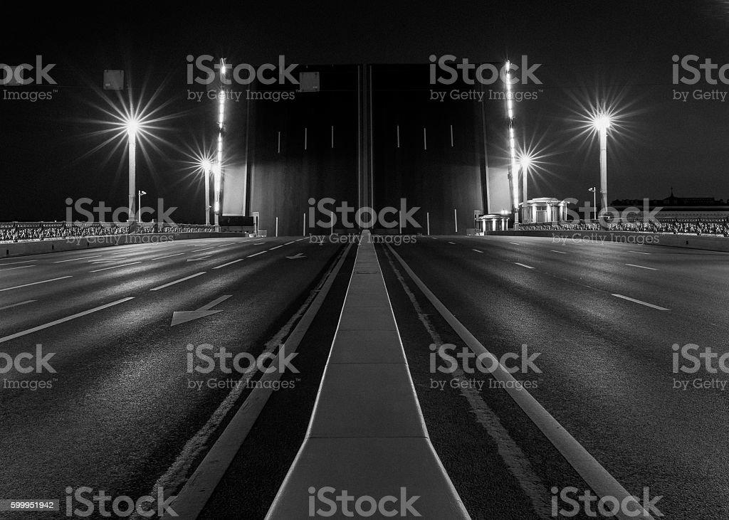 Drawning of Palace Bridge stock photo