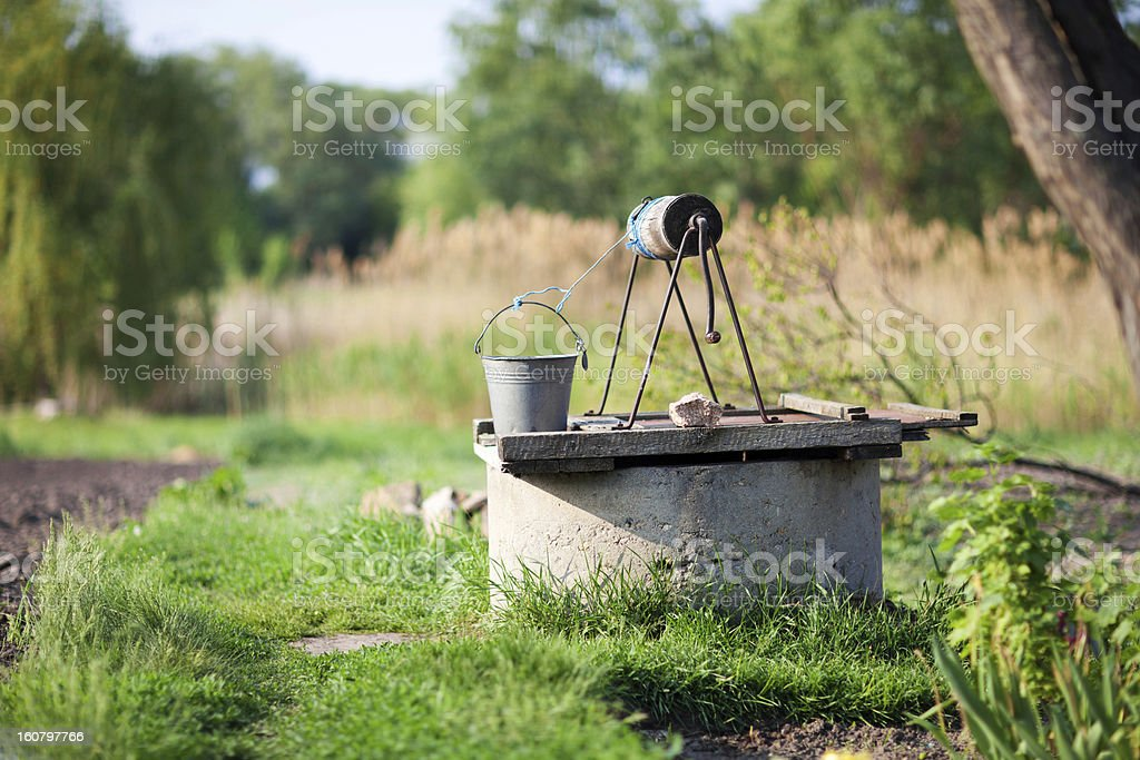 draw-well in the country royalty-free stock photo