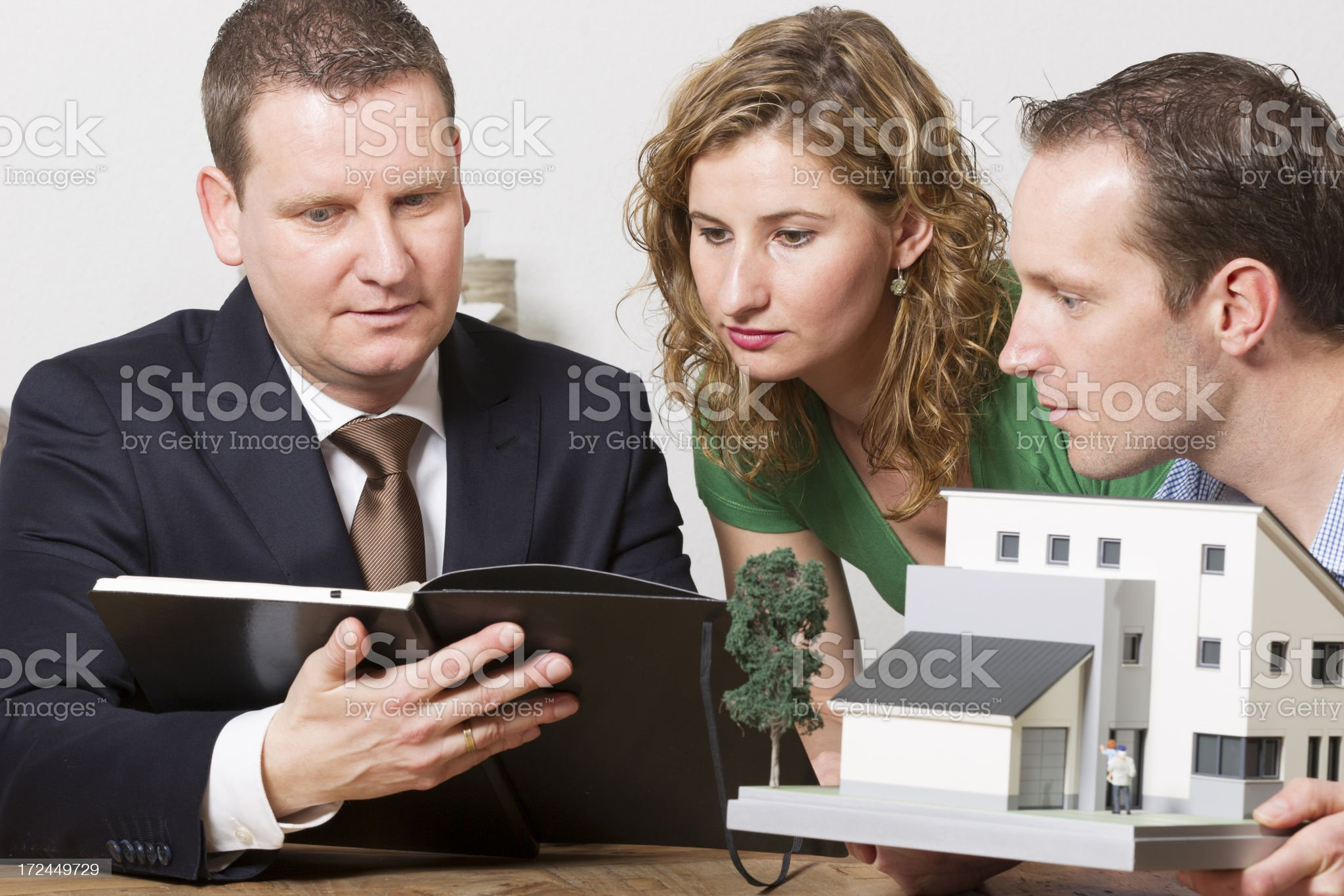 Dream about new house, model home royalty-free stock photo