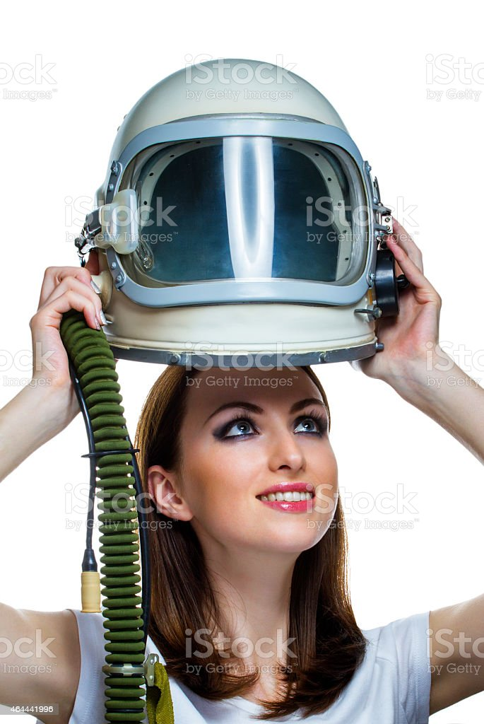 Dream about space flight stock photo