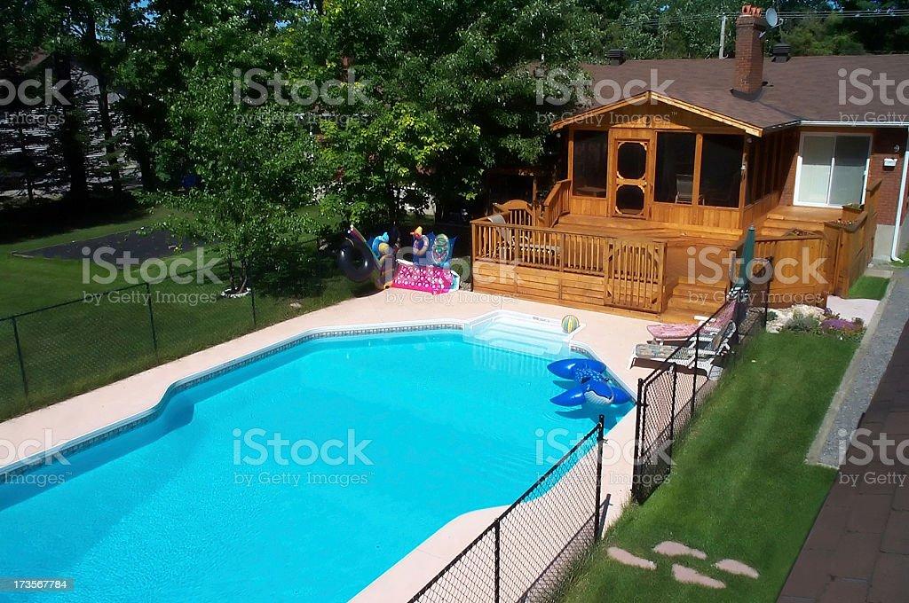 Dream backyard royalty-free stock photo