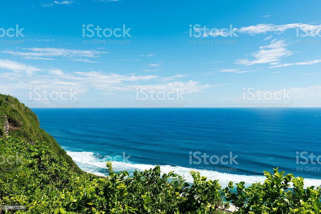 Dream beach at sunny day. Lembongan island, Bali, Indonesia stock photo