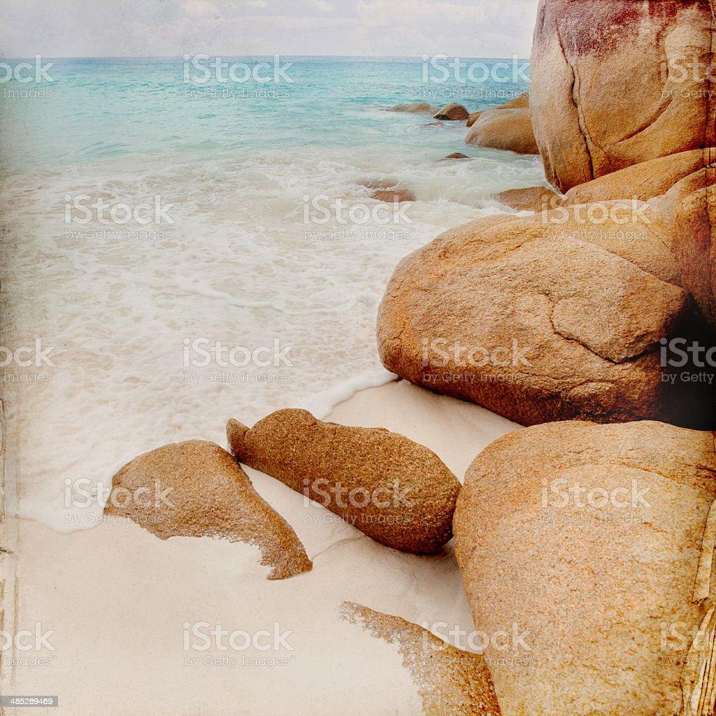 Dream Beach Background royalty-free stock photo