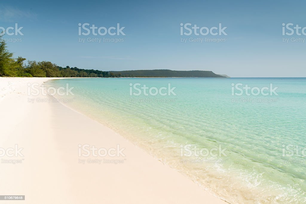 Dream Beach Cambodia Island stock photo